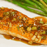 Keto Teriyaki Salmon recipe on a plate