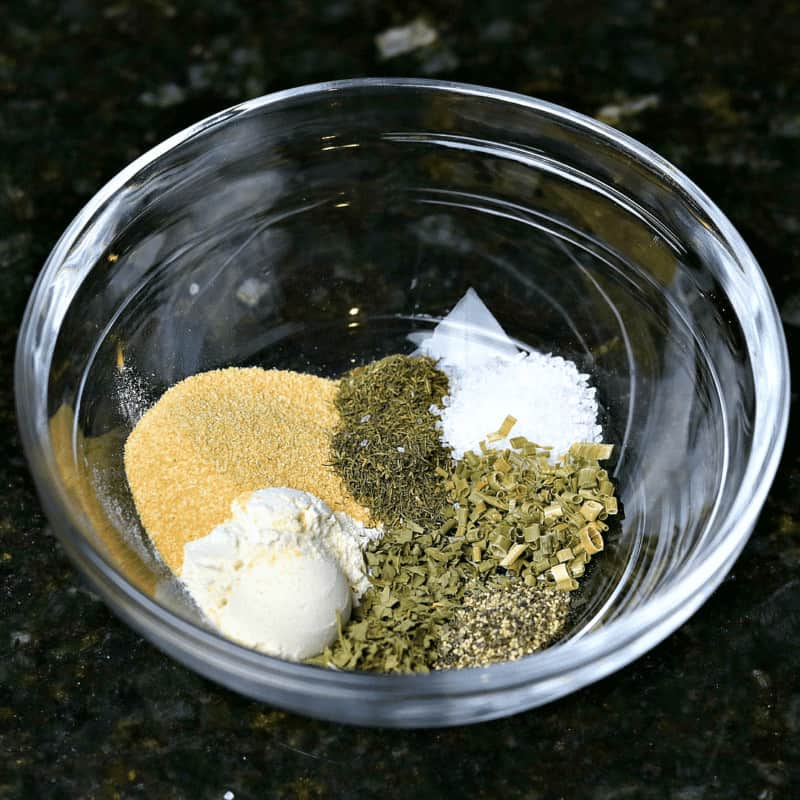 Ranch Seasoning Mix recipe in a bowl