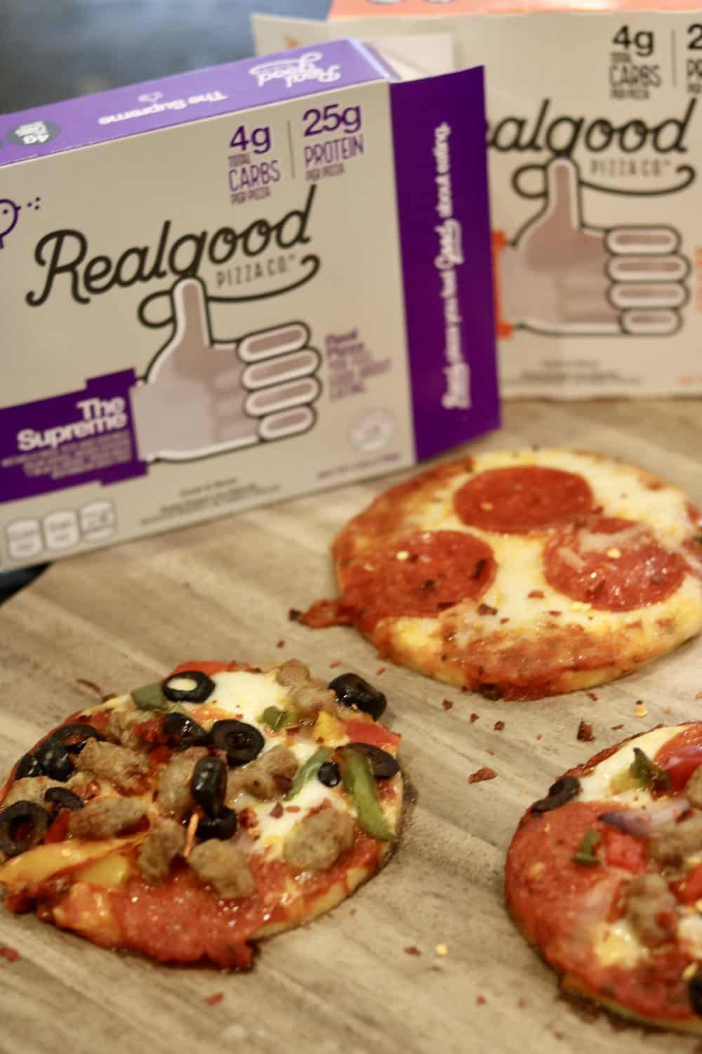 Real Good Pizza in three flavors