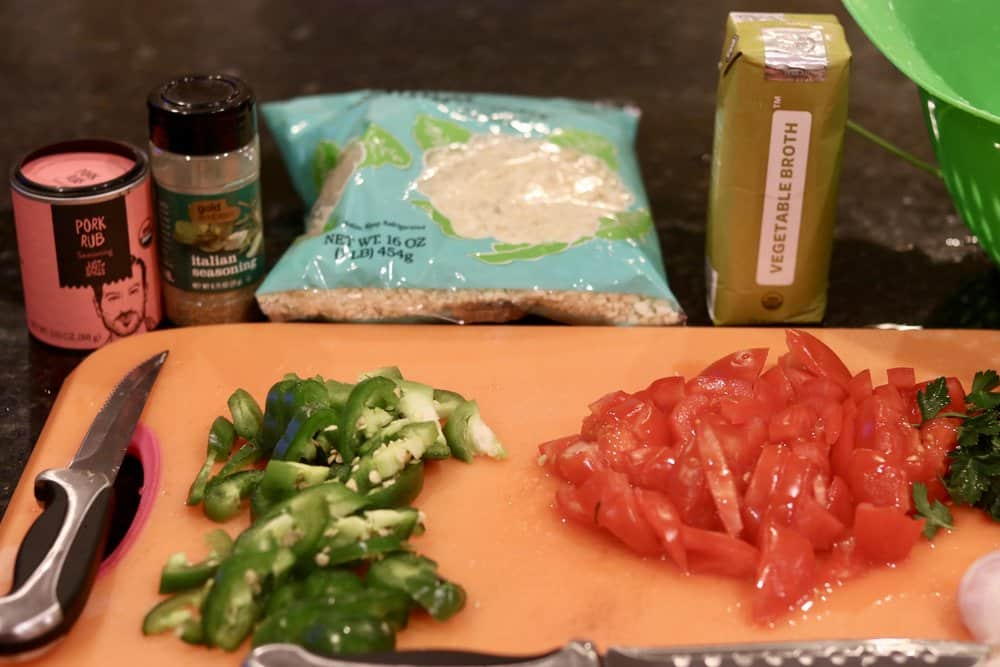 Ingredients for Keto Jambalaya
