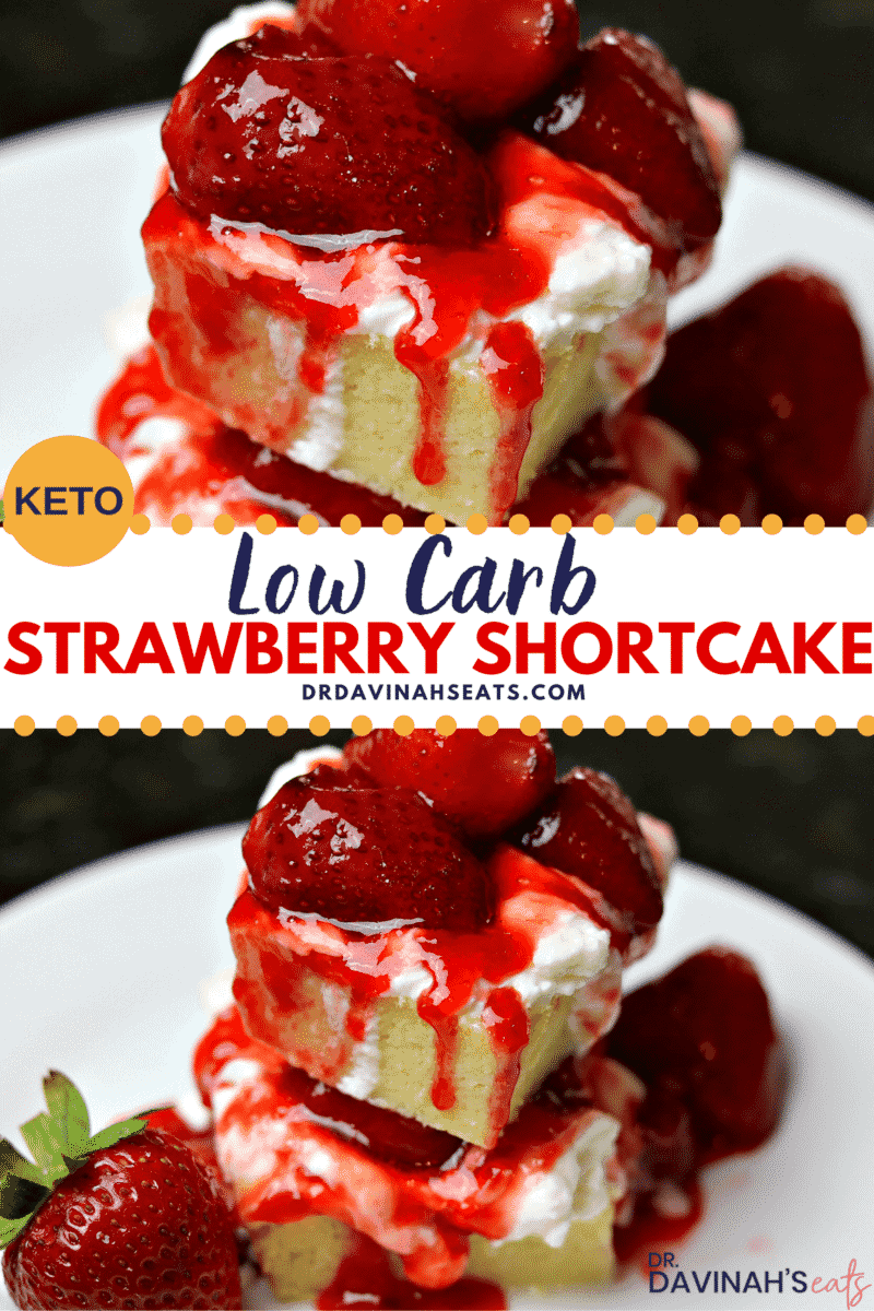 pinterest image for Low Carb Strawberry Shortcake