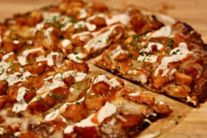 Low Carb Buffalo Chicken Pizza