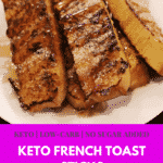 A recipe for keto-friendly, low-carb French toast sticks using a remix of the egg loaf recipe
