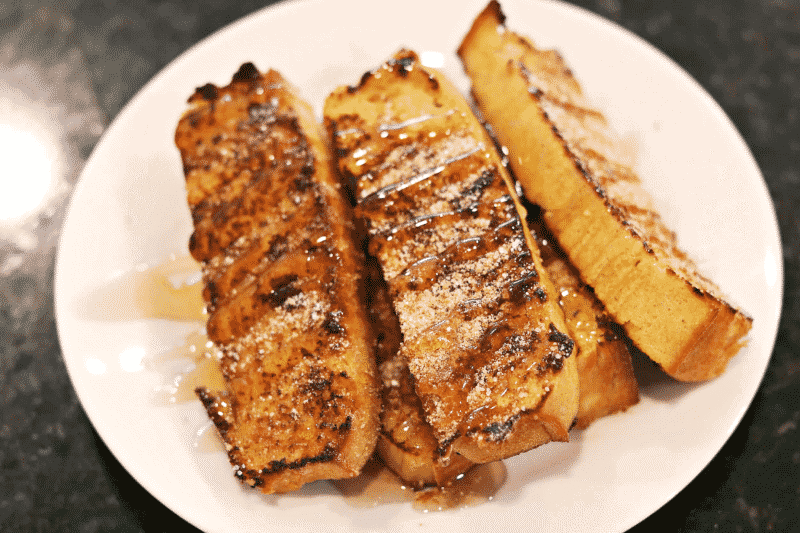 Keto French Toast Sticks recipe on a plate