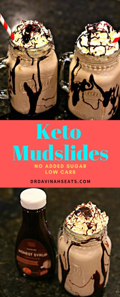 Pinterest image for Keto Mudslide