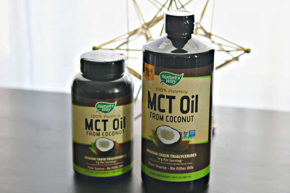 Two bottles of Nature's Way MCT Oil products