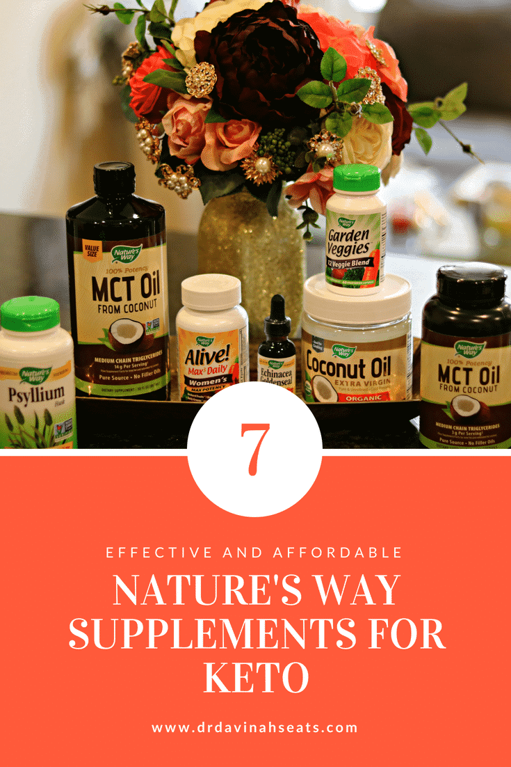 A Pinterest image for Seven Effective and Affordable Nature\'s Way Supplements for Keto