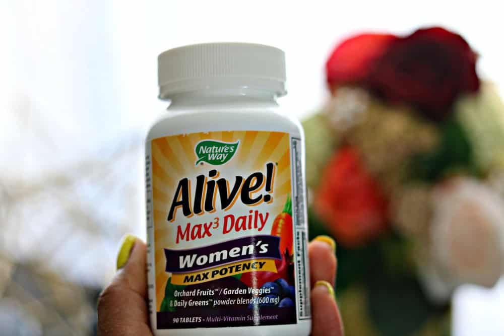 A bottle of Nature's Way Alive tablets for women