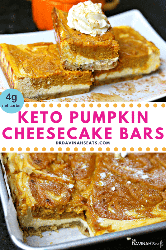 Pinterest Image for Healthy Pumpkin Bars