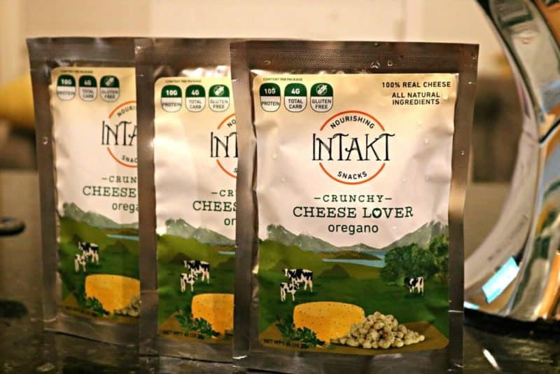 Three bags of Intakt Crunchy Cheese Lover Oregano