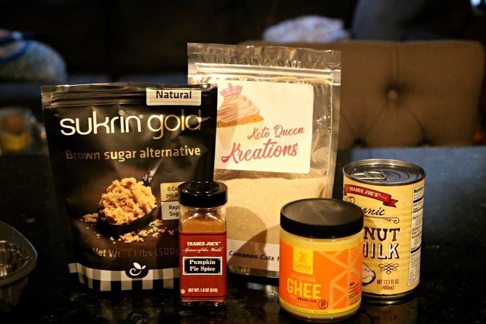 Ingredients for Pumpkin Swirl Cake with Pumpkin Glaze