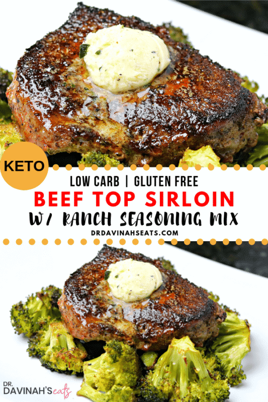 A Pinterest-friendly image for easy beef top sirloin recipe using ranch dressing mix