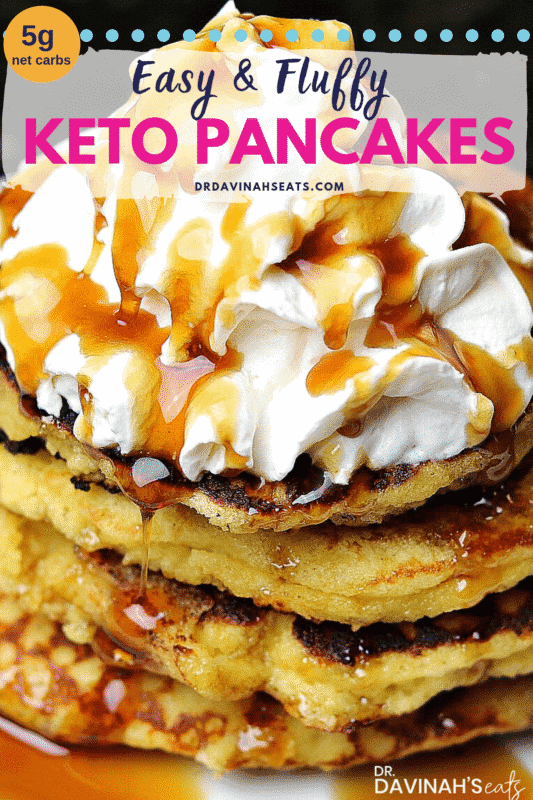 Pinterest image for Keto Pancakes