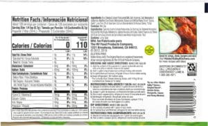 The nutrition label for Hidden Valley Blue Cheese Dressing Mix