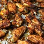 Oven fried chicken wings on a sheet pan