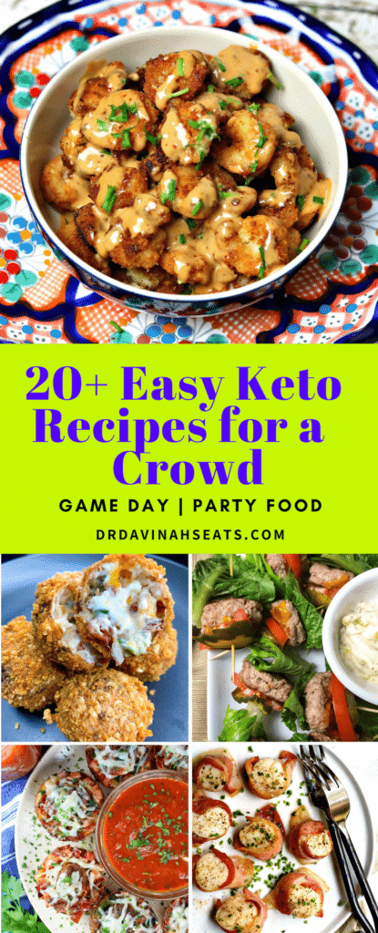 Pinterest image for Keto Appetizers and Tailgate Food
