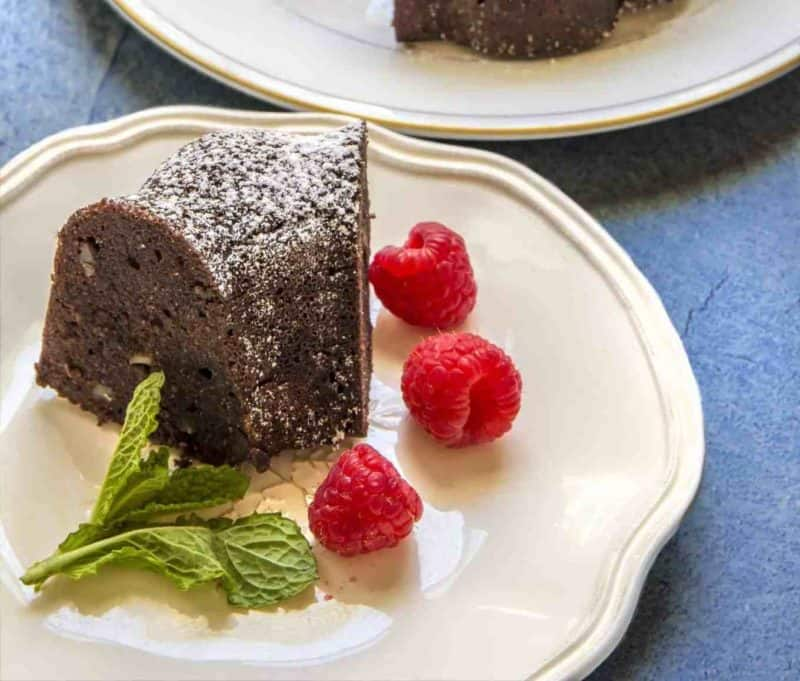 Grain-free Chocolate Cake on a plate