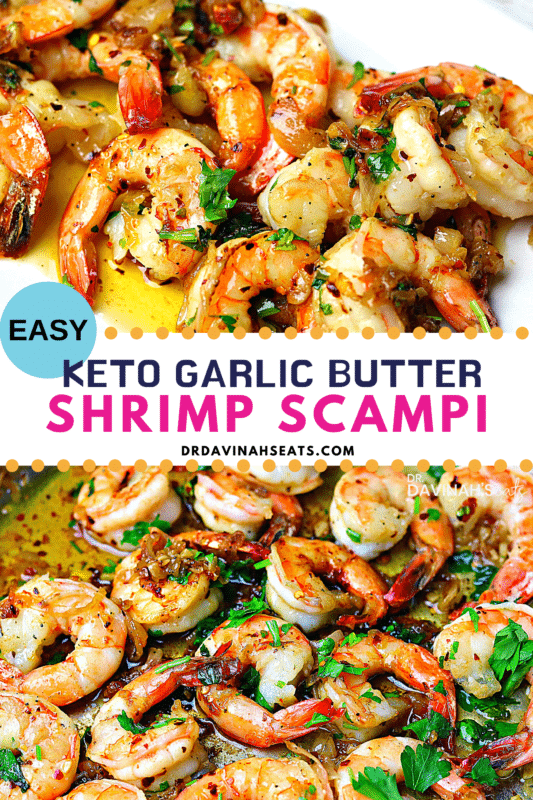 Garlic Butter Shrimp Scampi Pinterest Image