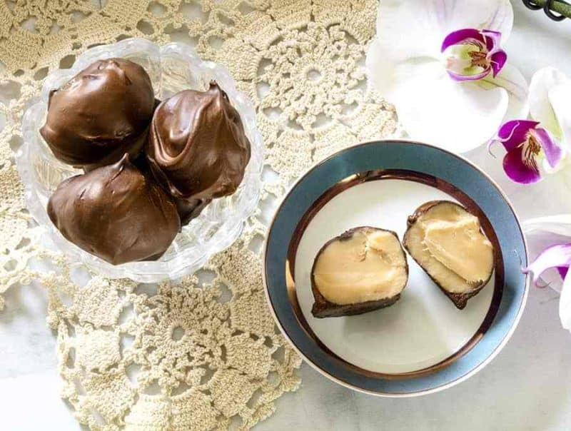 Keto Sweet Cream Truffles in two bowls