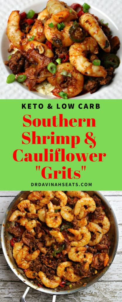Pinterest friendly image for Southern Shrimp & Grits