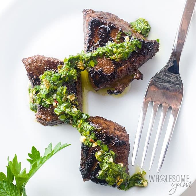 Steak Bites Appetizer Recipe with Chimichurri Dipping Sauce