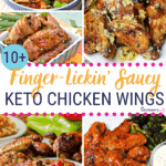Pinterest image for Keto Chicken Wings