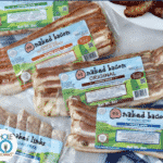 a product photo of sugar-free naked bacon packages