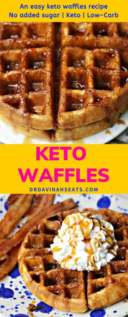 Pinterest image for Keto Waffles