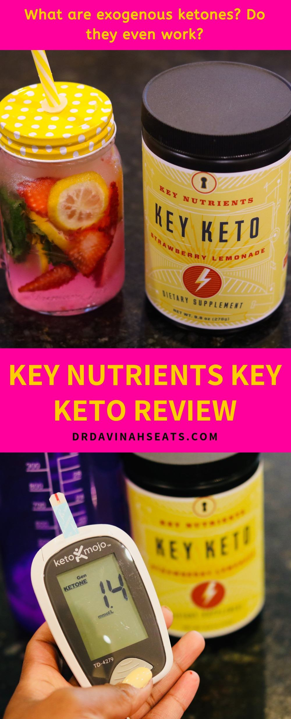 A Pinterest image for Key Keto by Key Nutrients.