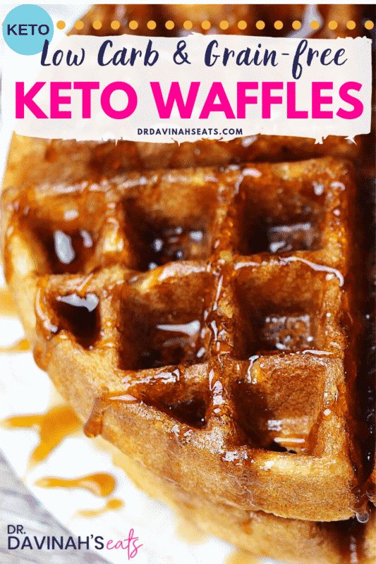 Pinterest image for Keto Almond Flour Waffles