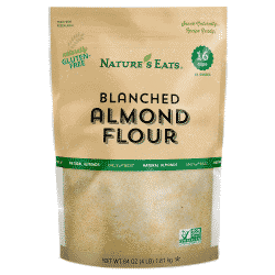 a close-up of Nature\'s Eats blanched almond flour