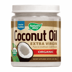 a photo of Nature\'s Way Extra Virgin coconut oil