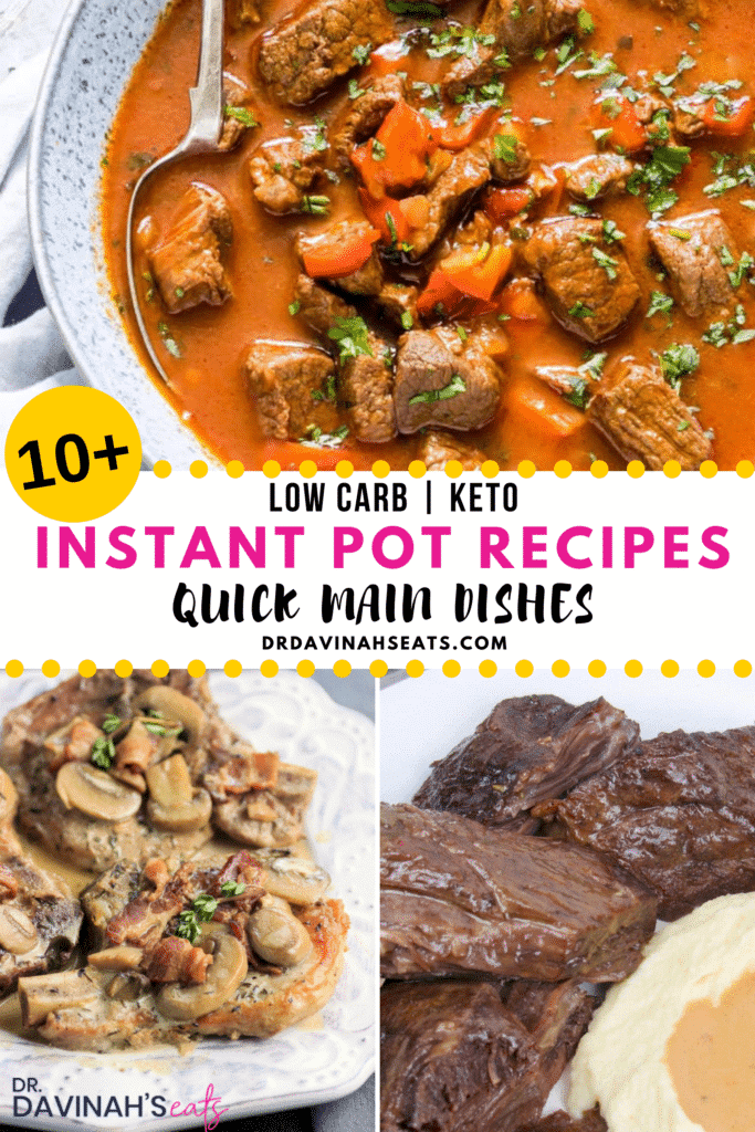 Pinterest image for 10 Keto Instant Pot Meals