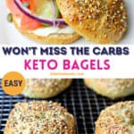 keto bagels recipe pinterest image