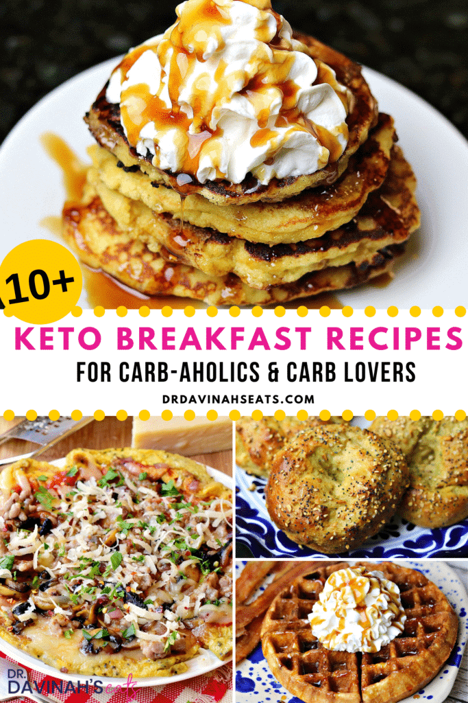 Pinterest image for keto breakfast recipes