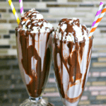 two keto mudslides in tall glasses