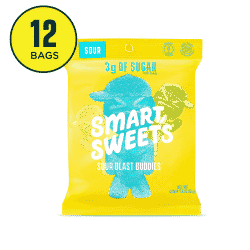 A close up of Smart Sweets brand Sour Blast Buddies
