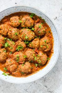 Instant Pot Meatballs in a bowl