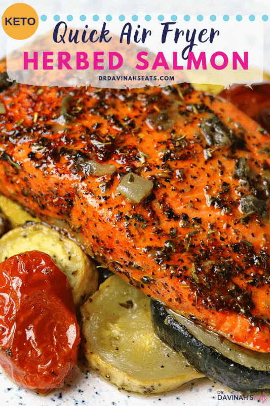 Air Fryer Salmon Pinterest image