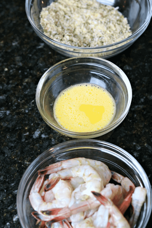 2-Step Process for Breading Air Fryer Shrimp