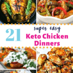 keto chicken dinner recipes pinterest image