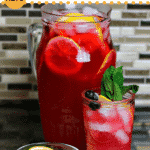 Pinterest image for keto iced tea lemonade