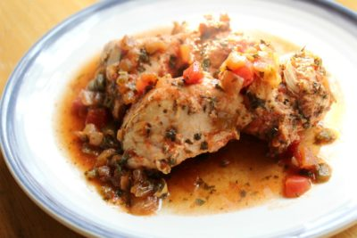 Slow Cooker Salsa Chicken on a Plate