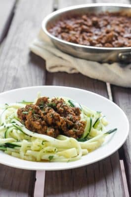 Meat Sauce with zoodles