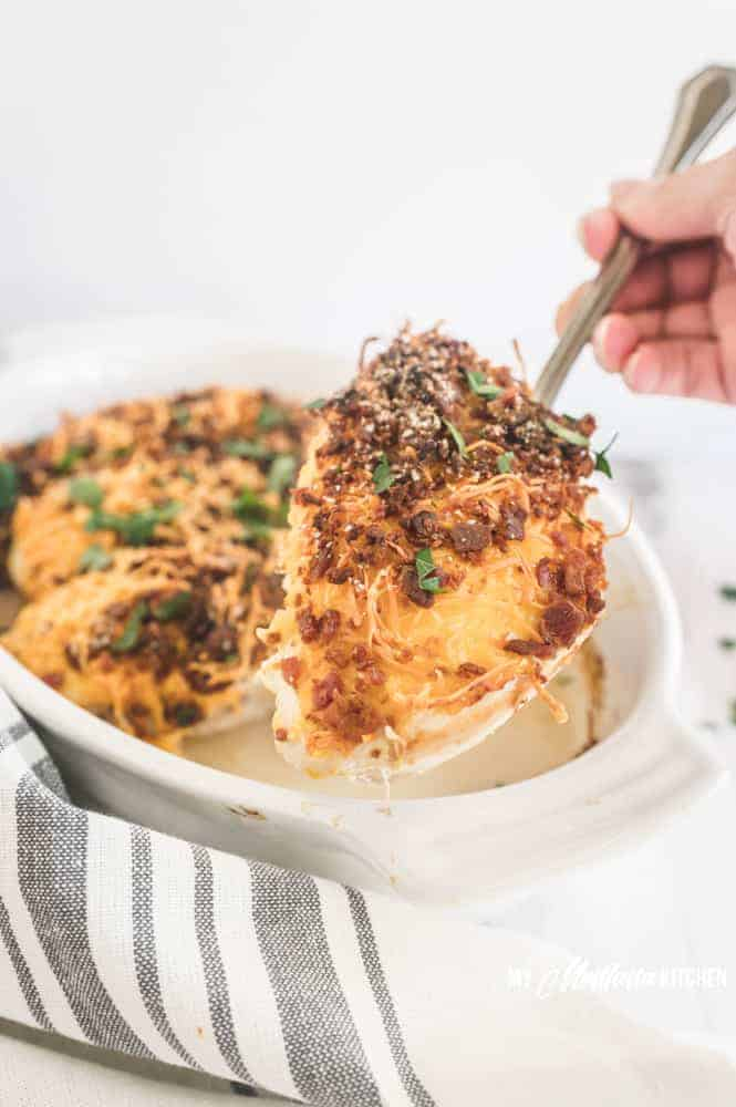 easy chicken with bacon and cheese