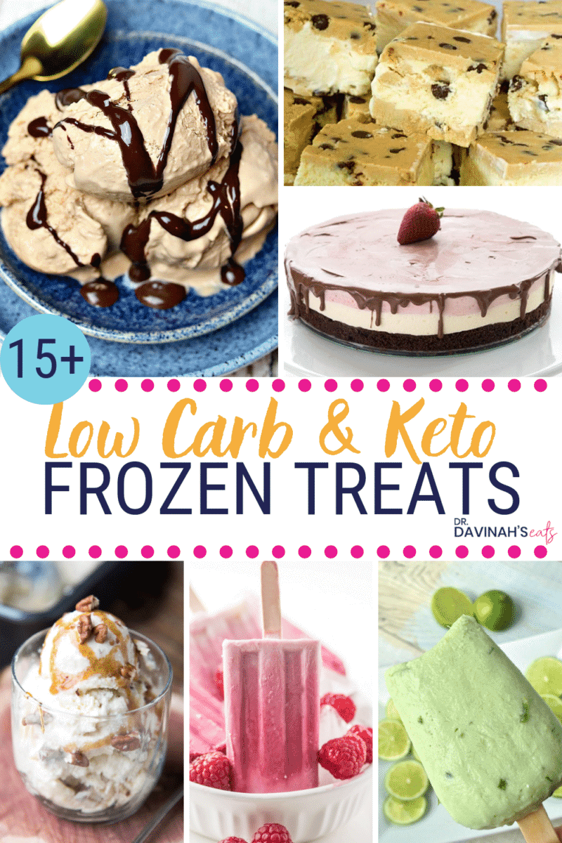 Low Carb & Keto Frozen Treats Pinterest image