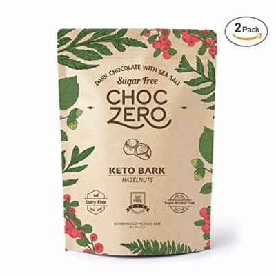 ChocZero Keto Bark with Hazelnuts - low-carb chocolate candy