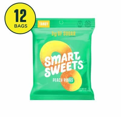 SmartSweets Peach Rings - copycat keto peach candy
