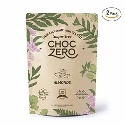 ChocZero Keto Bark with Almonds - low-carb chocolate candy