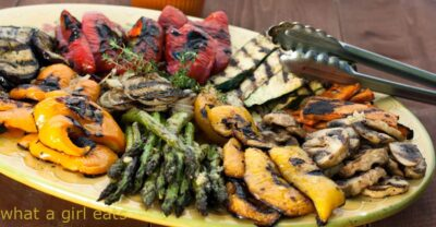 grilled vegetables on a serving plate